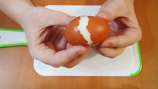 Food Hack: Learn How To Peel Boiled Eggs Like a Superman