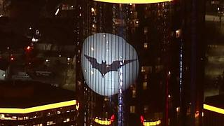 The Bat Signal on the Ren Cen - Video