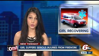 14-year-old girl injured from falling firework in Franklin, Indiana - Video