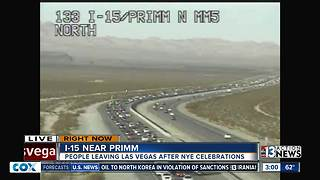 Traffic backed up for miles heading into California - Video