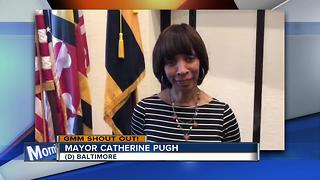 Good morning from Baltimore Mayor Catherine Pugh