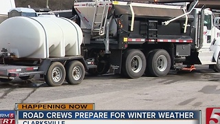 Clarksville Preps For Wintry Weather - Video