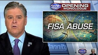 Hannity details shocking FISA abuse under FBI director James Comey