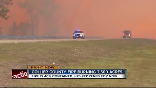 I-75 reopens in Naples after brush fire - Video