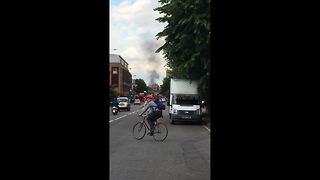 Stratford Centre fire visible from miles away - Video