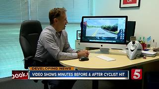 Video Shows Minutes Before And After Cyclist Was Hit - Video