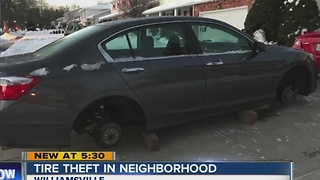 Tire thieves strike again in Western New York - Video