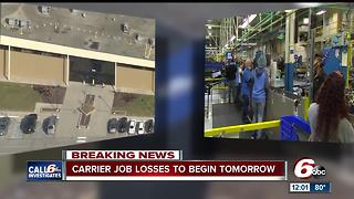 Carrier job losses to begin Thursday - Video