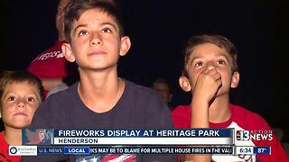 People enjoy fireworks in Las Vegas valley - Video