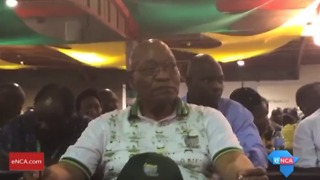 President Zuma Barely Moves After Rival Elected to ANC Leadership - Video