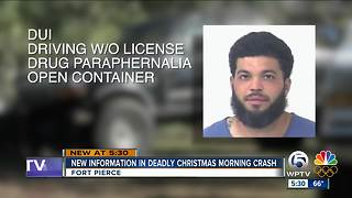 New information in Fort Pierce deadly Christmas morning crash - Video