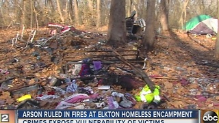 Tent fires at Elkton homeless encampment ruled arson - Video
