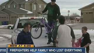 Aurora family devastated by house fire gets help from generous community members - Video