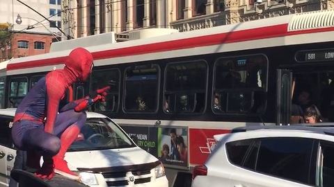 Spider-Man keeping the streets of Toronto safe