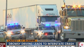 Drowsy driving leads to more crashes at this time of year - Video