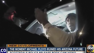Body camera footage released in Michael Floyd's arrest - Video