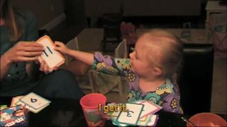 Little Girl Discovers A New Number - Video