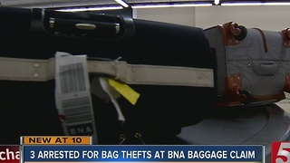 3 Arrested For Stealing Bags At BNA - Video