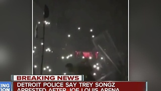 Detroit police say Trey Songz arrested at Joe Louis Arena - Video