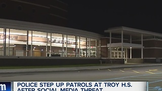 Social media threat implies shooting at Troy HS - Video