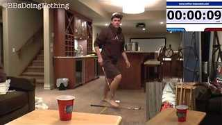 Man Proves His Skill with Three Amazing Golf Pong Shots - Video
