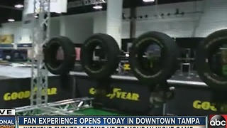Fan experience opens today in downtown Tampa - Video