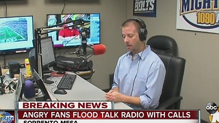 Angry fans flood talk radio with calls - Video