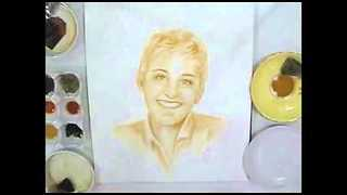 Unique Portrait of Ellen DeGeneres - Video