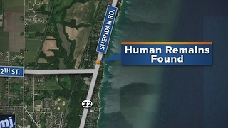 Suspected human remains found on Lake Michigan's shoreline - Video