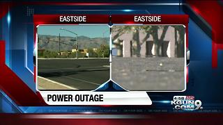 Nearly 14,000 TEP customers on eastside currently without power - Video