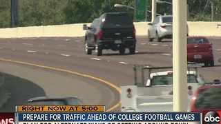 Prepare for traffic ahead of College Football games - Video