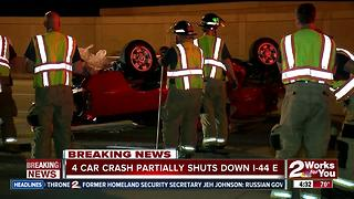 Person in hospital after car crash on I-44 East - Video