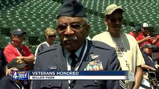 Veterans honored at Miller Park - Video