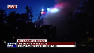 Crews battle pair of house fires on Detroit's west side - Video