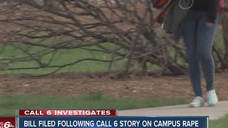 Federal legislation filed following Call 6 Investigates story on campus rape - Video