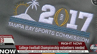 College Football Championship volunteers needed - Video