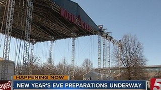 Preps Begin For Nashville NYE Celebration - Video