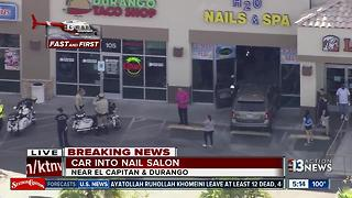 Car crashes into nail salon - Video