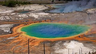Grand Prismatic Spring, Yellowstone National Park, USA - Video