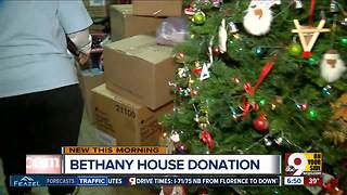 Mariemont High School student collects gifts for Bethany House this Christmas