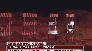 One dead in crash near Fort Apache, Mountains Edge Parkway - Video