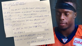 Broncos player posts racist letter he received - Video
