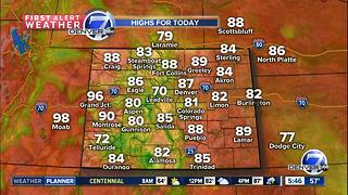 80s today and low 90s tomorrow!