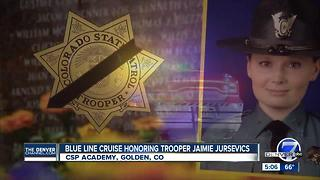 Colorado car club organizes Blue Line Cruise for fallen CSP trooper - Video