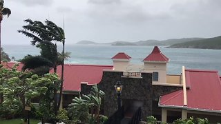 Eye of Hurricane Irma Closes in on US Virgin Islands - Video