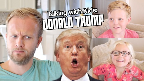 Dad asks kids questions about Donald Trump