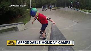 Tampa offers free and affordable holiday camps for kids during school break - Video