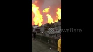 Natural gas pipeline explodes in China, killing eight - Video