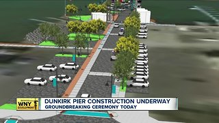 Dunkirk City Pier construction underway