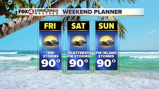WEEKEND FORECAST: Another round of PM storms in SWFL